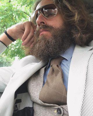 Matteo Moro l'intervista al modello barbuto